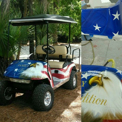 Custom Golf Cart Augusta, GA | Custom Golf Cart Paint | Evans, GA on